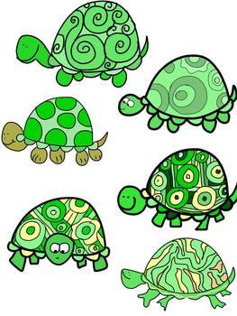 Turtle Clip Art {Commercial and Personal Use}