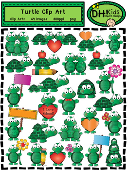 Turtle Clip Art - Personal and Commercial Use