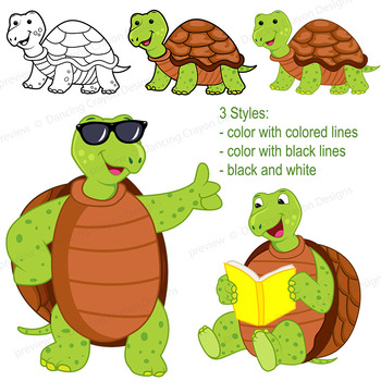 Turtle Clip Art with Signs
