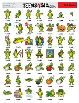 Turtle Clipart Set