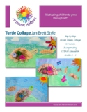 Turtle Collage Jan Brett Style Art Lesson