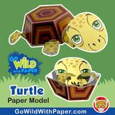 Turtle Craft Activity | 3D Paper Model