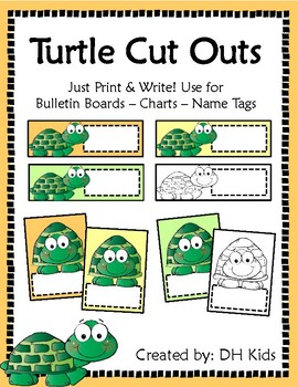 Turtle Cut Outs - Brights