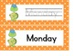 Turtle Days & Months Cards