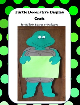 Turtle Decorative Display Craft for Bulletin Boards and Hallways