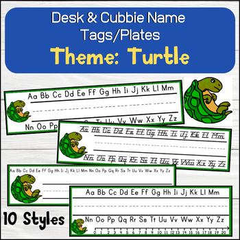 Turtle Desk Name Tags