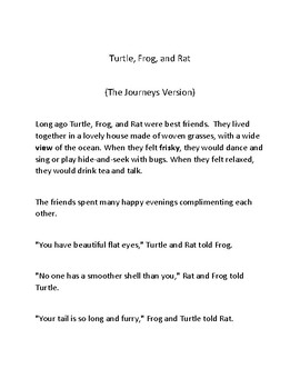 Turtle, Frog, and Rat-(Journeys Version)