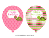 Turtle Girl Birthday Balloons
