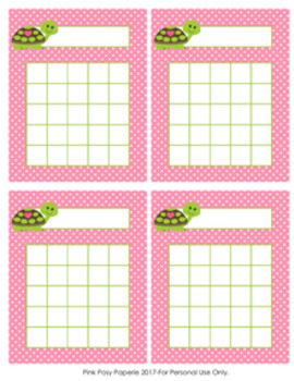 Turtle Girl Incentive Reward Charts