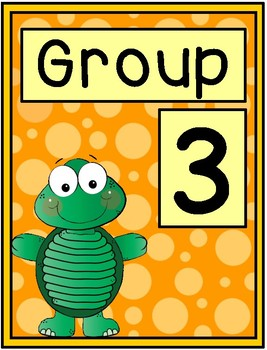 Turtle Group Signs - Table Group Signs