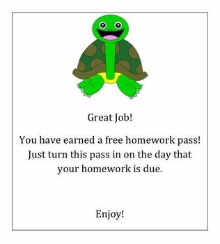Turtle Homework Pass