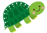 Turtle Lacing Card Numerals 0-10