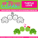 Turtle Love Clipart Single   Digital Use Ok!