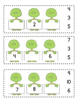 Turtle Missing Number Clip Cards