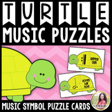Turtle Music Puzzles: Music Symbol Puzzle Cards for Elemen