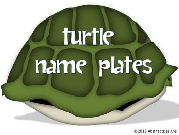 Turtle Name Plates