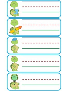 Turtle Name Tags
