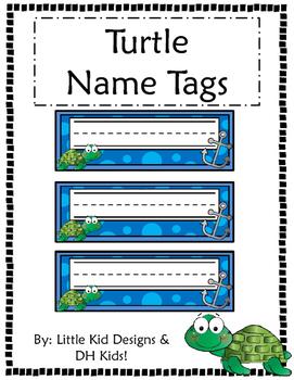 Turtle Name Tags - Printable Name Tags