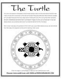 Turtle Native American Design - Free Coloring Page
