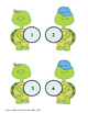 Early Learner Turtle Number Match File Folder Games/ Adapted Book