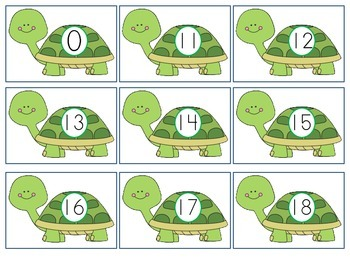 Turtle Number and Letter Cards