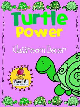 Turtle Power! Classroom Decor {Word Wall Headers+ Supply Labels+Schedule}
