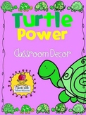 Turtle Power! Classroom Decor {Word Wall Headers+ Supply L