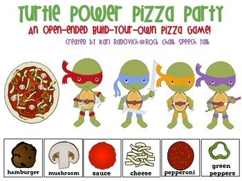 Turtle Power Pizza Party: An Open-Ended, Build-Your-Own Pizza Game!