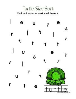 Turtle PreK Printable Learning Pack