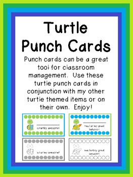 Turtle Punch Cards