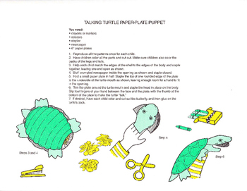 Turtle Puppet with Activities