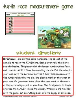 Turtle Race Measurement Game