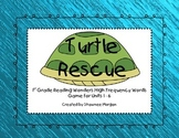 Turtle Rescue - Reading Wonders High Frequency Word Games for 1st Grade