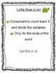Turtle Rule - c-le consonant le  Worksheets