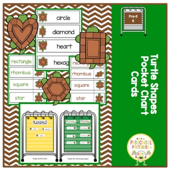 Turtle Shapes for Pocket Charts