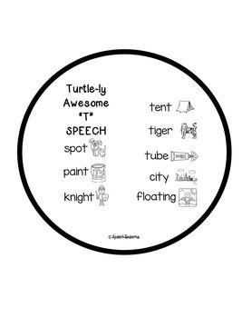 Turtle Speech Craftivity {language & articulation craft}
