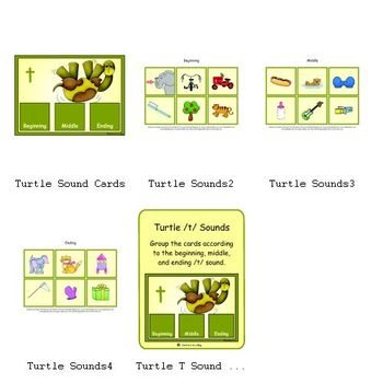 Turtle T Sounds (Beginning, Middle and Ending /t/ Sound)