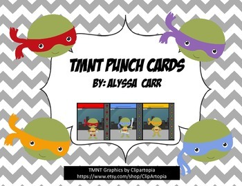Turtle (TMNT) Punch Cards