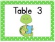 Turtle Table Cards