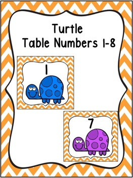 Turtle Table Numbers 1-8