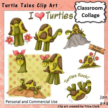Turtle Tales Clip Art - color - personal & commercial use