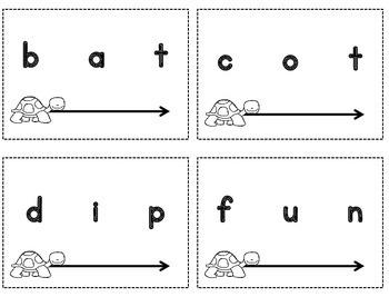 Phoneme Blending, Phonemic Awareness Vowel Blending Cards