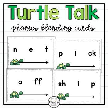 Turtle Talk Phoneme Blending Activity Cards Short Vowels