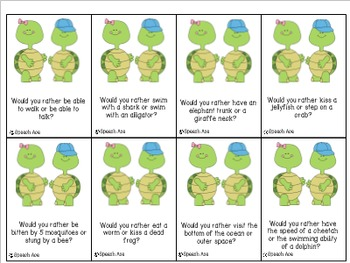 Turtle Talkin': Conversation Starters and Story Starters