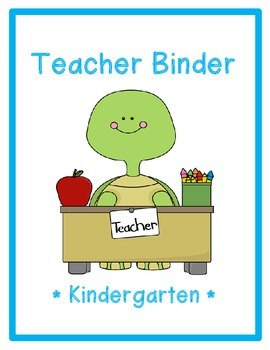 Turtle Teacher Binder