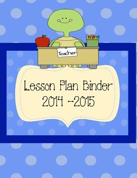 Turtle Teacher and Student Binder Cover
