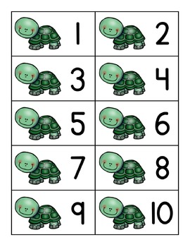 Turtle Ten Frames