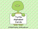 Turtle Theme Alphabet flashcards turtle letters