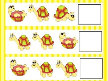 Turtle Theme Pattern File Folder Activity