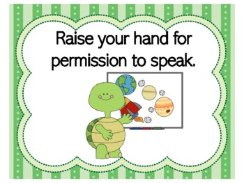 Turtle Theme | Turtle Themed Decor | Turtle Class Rules